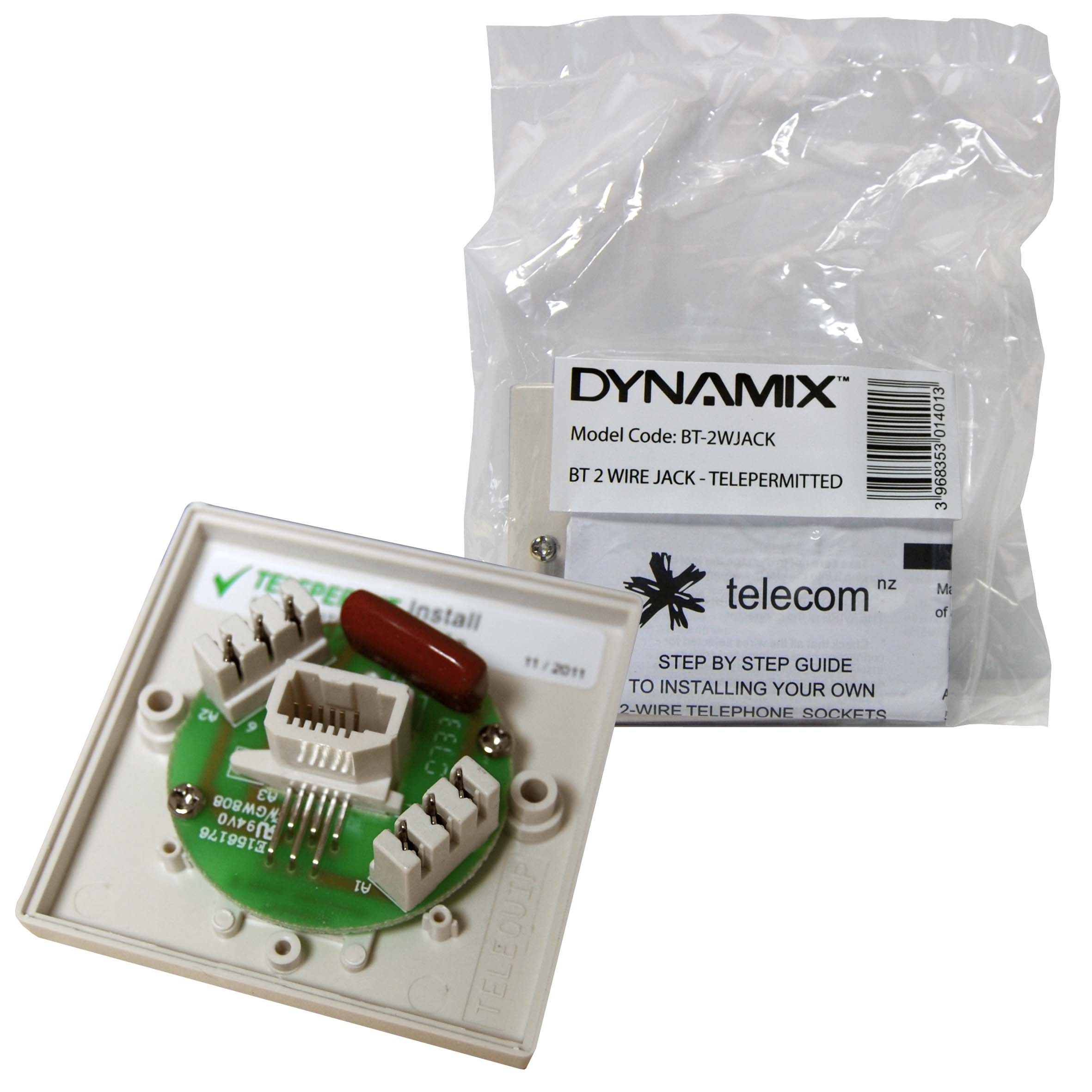 Dynamix Bt 2 Wire Jack Telepermited Powerun New Zealand Ltd Wiring A Mains Socket Call For Price